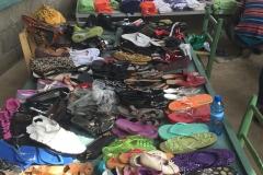 Women's shoes waiting to be chosen.