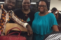Brother Kwabena, Sister Charlotte, and Dr. Helen at the airport.