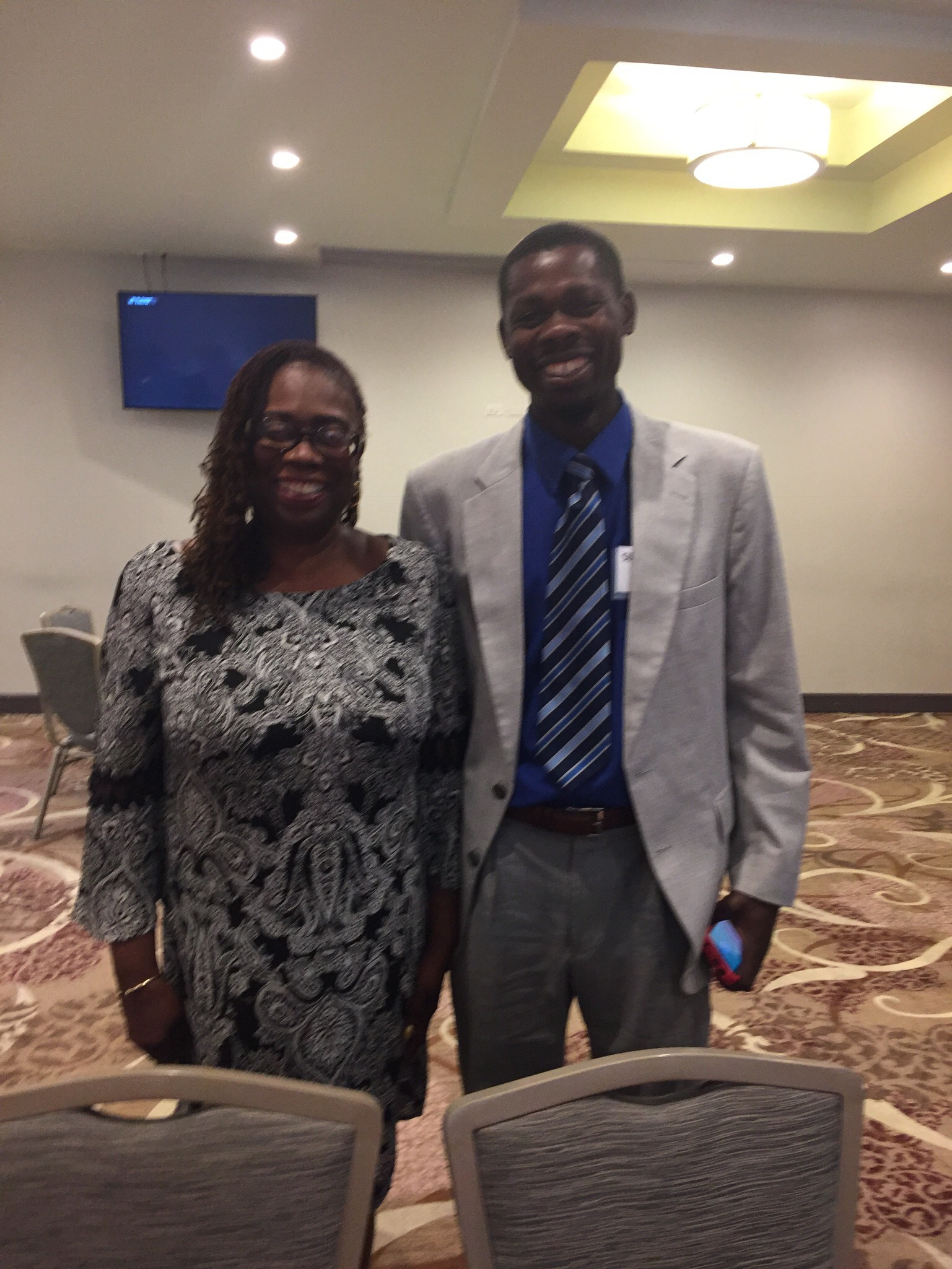 Dr. Helen Newton and Pasteur Mombrun Cherilus
